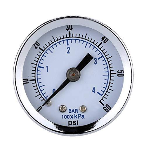 """Lorsoul NPT Mini calibrador de presión, de 40 mm 0-60psi 1/8\"""" Compresor de Aire, indicador de vacío hidráulico probador de la presión del manómetro"""