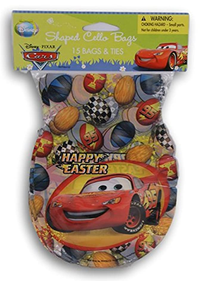 Cars Easter Cellophane Treat Bags with Twist Ties - 15 count