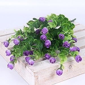 Rose Artificial Flower 30 Heads Silk flowers Home garden Decoration Flores Bouquet For Wedding Party Decor 6 color,Purple