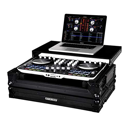 Reloop Beatmix 4 Case - extrem robuste Konstruktion, Laptop Ablagefläche, praktischer Tragegriff, schützende Schaumstoffpolsterung, schwarz