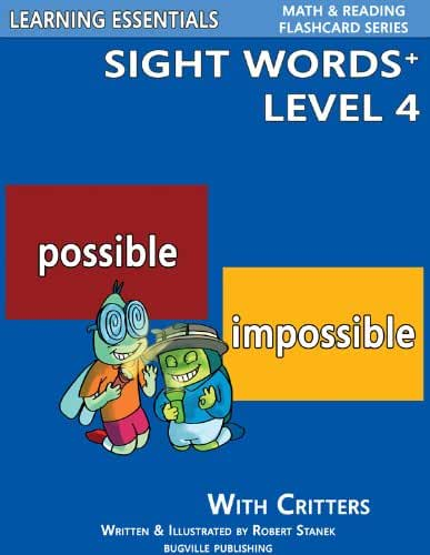 Sight Words Plus Level 4: Sight Words Flash Cards with Critters for Grade 2 & Up (Learning Essentials Math & Reading Flashcard Series) (Bugville Critters Book 67) (English Edition)