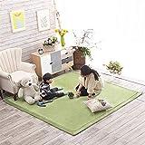Insun Alfombra de Pelo Corto Tatami Japonés Alfombra Antideslizante Lavable para Decoración del Salón Dormitorio Habitación de los Niños Verde 120x200cm