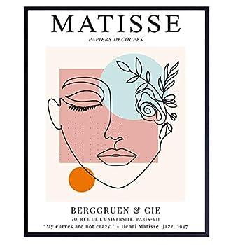Matisse Wall Art - 8x10 Matisse Poster - Matisse Print - Line Art Decor - Minimalist Wall Art - Abstract Art - Aesthetic Pictures - Mid Century Modern Wall Art - Henri Matisse - Minimal Wall Art