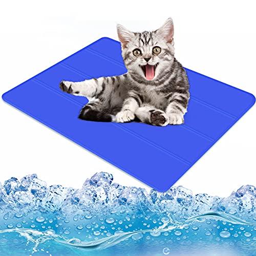 Sazuik ペットひんやりマット 犬 猫用 クールマット ひえひえ爽快 ひんやりシート 熱中症対策 冷感マット 冷却マット 多用途 日本語取扱説明書付き (40*50cm)