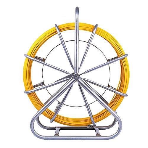 Yonntech 6mm 130m Rohr Rod Rodder Fiberglas ziehen Spitze Draht Kabel läuft Fisch Tape Pulling Hand-betrieben Draw Wire Retractable Einfädler
