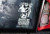 Sticker International American Staffordshire Terrier - Pegatina de Coche - Perro Signo Ventana, Parachoques Forma Regalo - V001 - Blanco/Claro - Externo Exterior Estampado, 195x100mm