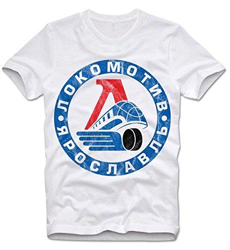 T-Shirt Lokomotiv Yaroslavl Russia Russian Ice Hocky Eishockey XL
