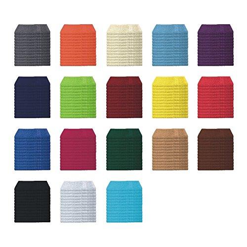 6er Pack / 12er Pack - Gästetücher Set - 12 Gästetücher 30x50 cm - Farbe Terra