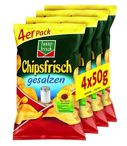funny-frisch Chipsfrisch gesalzen Multipack, 10er Pack (10 x 4 x 50 g)