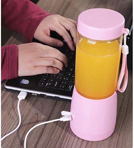 ECSWP 380 ml portátil exprimidor eléctrico automático inalámbrico Mini USB recargable Jugo Copa Blender (Color : Pink) White