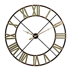 "CC Home Furnishings 48"" Green Shaded Rustic Antiqued Iron Decorative Oversized Wall Clock"