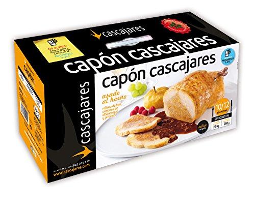 CASCAJARES - Capón relleno de Foie, Orejones de Albaricoque y Piñones. Capón relleno de 2,5 kilos y un litro de salsa de albaricoque, para 10-12 personas. Sin gluten ni lactosa