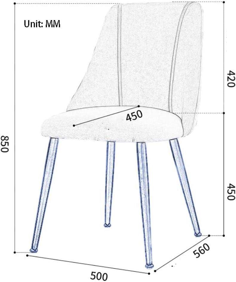 Robuste Simple chaise bureau étudiant et chaise de maquillage tabouret retour à la maison à manger chaise d'ordinateur Spacieux (Color : Orange) Orange