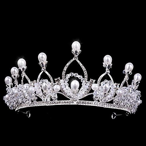 Y-XM Tiara de Novia Corona de cumpleaños de Princesa con Tocado de...
