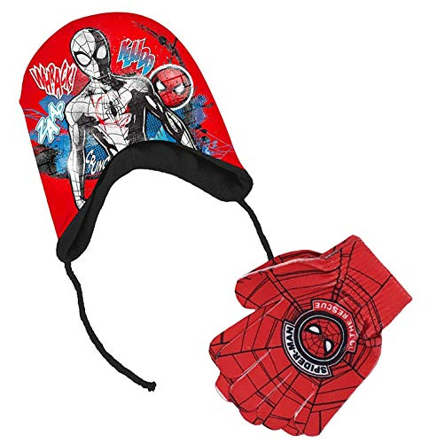 Spiderman - Cappello Peruviano e Guanti Spiderman da 3 a 6 Anni
