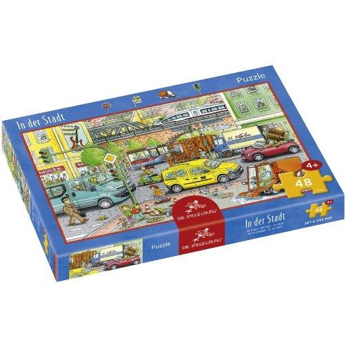 Die Spiegelburg Coppenrath 21389 - Puzzle In der Stadt, 48 teilig