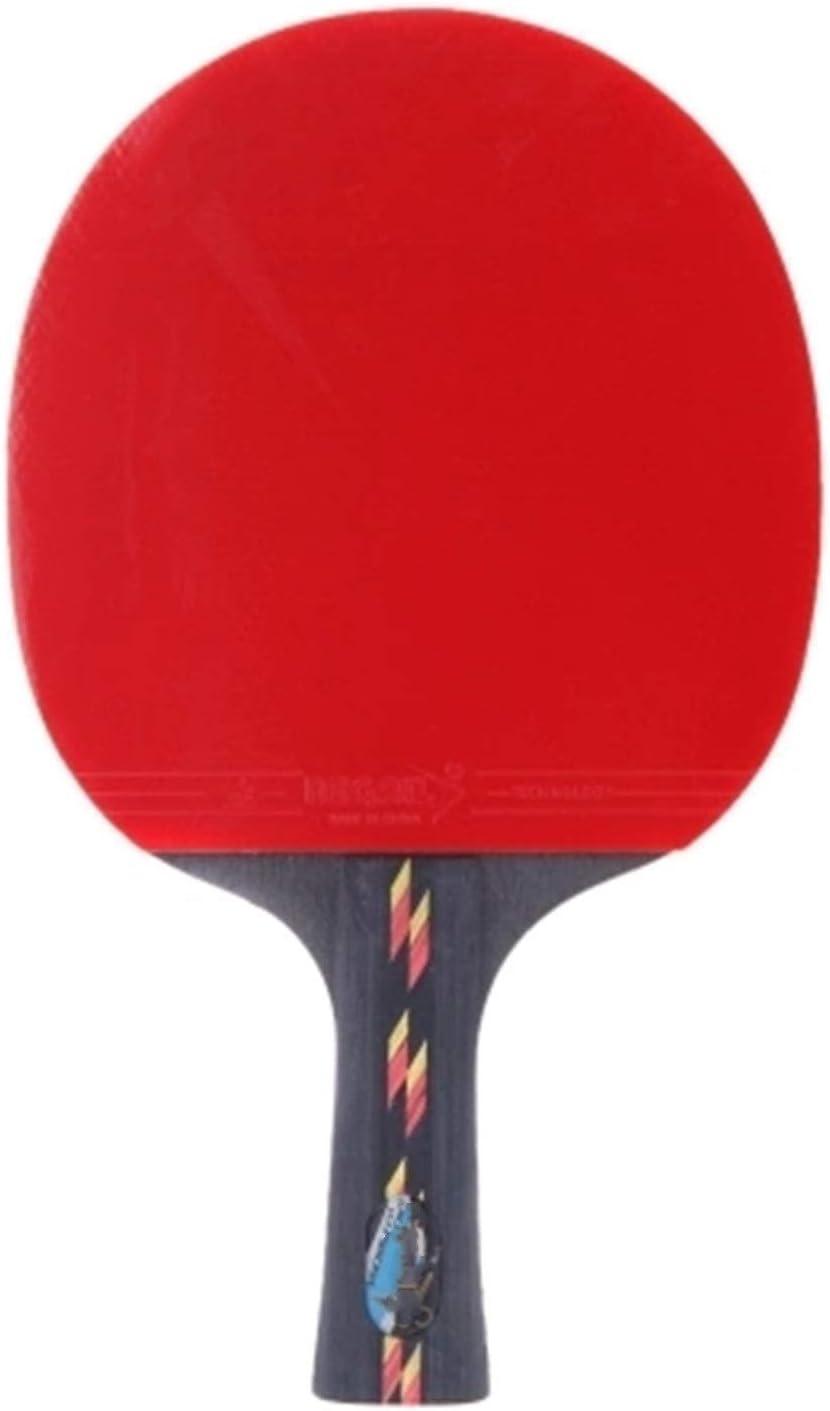 Vobajf Paleta de Ping Pong Bolso de la Caja de murciélago de la Raqueta del Pong de la Raqueta de la Mesa Se Dan la Mano Grips (Color : Red, Size : One Size)