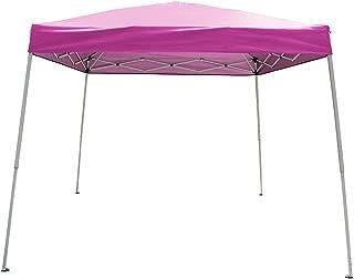 Polar Aurora 10' X 10' 5 Color Slant Leg Easy Pop up Popup Canopy Party Sun Shade Tent (Pink)