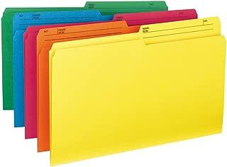 Smead Reversible File Folder, 1/2-Cut Tab, Legal Size, Assorted Colors, 10 per Pack (15391)
