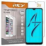 REY 3X Protector de Pantalla para OPPO A7 / OPPO AX7 / OPPO K7 5G, Cristal Vidrio Templado Premium