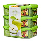 By Caleb Company Green Bento Boxes For Kids Lunches - 39 Ounce Divided Food Storage Containers With Lids - Leakproof, BPA Free Bento Box for Kids & Adults Is Safe For Dishwasher & Microwave - 3 Pack