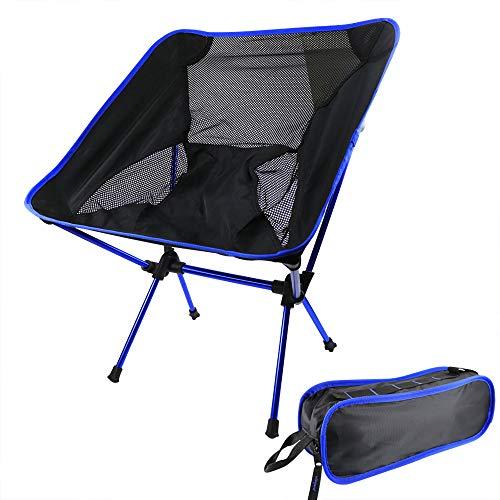 Campingstuhl kompakt Outdoorstuhl faltbar, Kleiner, ultraleichter und klappbarer Campingstuhl in Einer Tasche für Outdoor, Picknick, Zelten, Wandern
