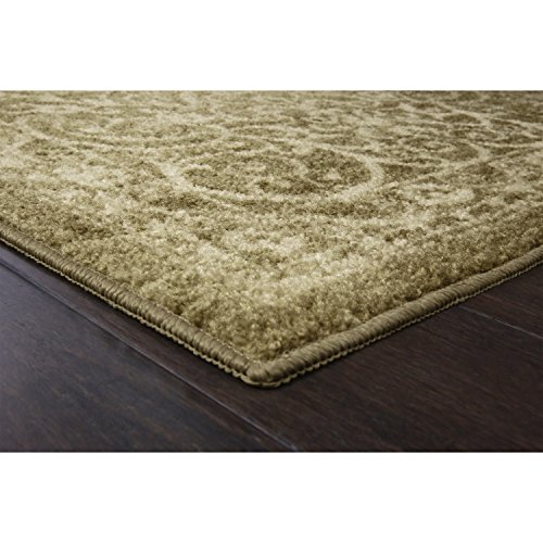 Maples Rugs Pelham Vintage Kitchen Rugs Non Skid Accent Area Carpet [Made in USA], 1'8 x 2'10, Khaki
