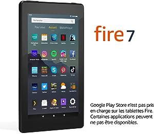 """Tablette Fire 7, écran 7"""", 16 Go (Noir) - Avec publicités"""