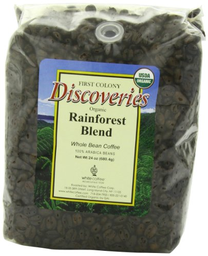 First Colony Organic Fair Trade Whole Bean Coffee, Rainforest