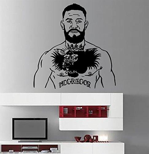 Tatoo McGregor Sticker Champion UFC Vinyl Art Conor McGregor Wall Vinyl Decal UFC Wall Mural Home Interior Decor Livingroom Bedroom Design cm8