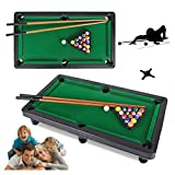 【USA In Stock】Mini Tabletop Pool Set- Billiards Game Includes Billiards Table, Billiards,Billiard Cue,Tripod -Portable and Fun for the Whole Family Multiplayer Board Game Toy