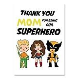 haoziggdeshoop Dessin animé Super-héros Mur Art Toile Peinture pépinière Affiche Nordique Batman Cuadros Enfant Cadeau Mur Photos pour Salon sans Cadre 50x70 cm F