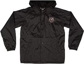 Independent Trucks x Thrasher Magazine Pentagram Cross Men's Hooded Windbreaker Jacket - Black - XXL