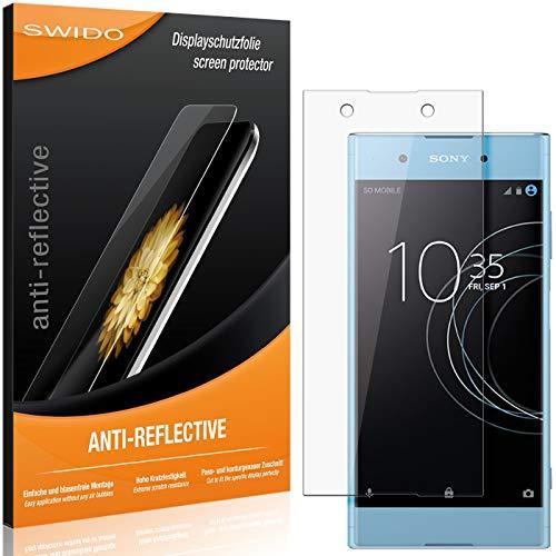 SWIDO Schutzfolie für Sony Xperia XA1 Plus [2 Stück] Anti-Reflex MATT Entspiegelnd, Hoher Festigkeitgrad, Schutz vor Kratzer/Folie, Bildschirmschutz, Bildschirmschutzfolie, Panzerglas-Folie