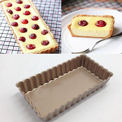 Aliciashouse Champagne Non stick Drop Bottom Cake Pan Mold Mini Pie Pan Mold