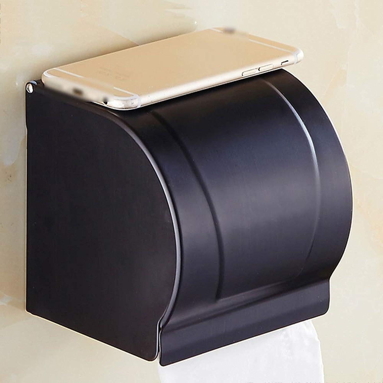 ZZLX 紙タオルホルダー、フル銅ブラックアンティーク防水ロールホルダートイレットペーパーホルダー ロングハンドル風呂ブラシ (色 : Black ancient, サイズ さいず : 1#)