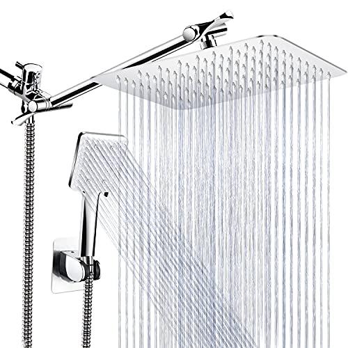 Qinmor Shower Head , 8'' High Pressure Rainfall Shower Head...