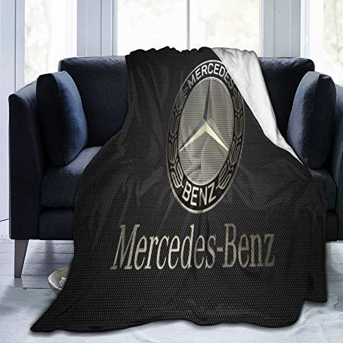 Mercedes Benz Decke, ultraweich, Micro-Fleece-Decke, schöner Überwurf, für Couch, Bett, Sofa, Überwurf, Decke, 125 x 150 cm