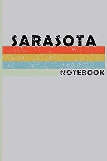 SARASOTA City Vintage Style: SARASOTA Notebook Journal Gift;Vintage Retro Design; Notebook Planner - 6x9 inch Daily Planne...