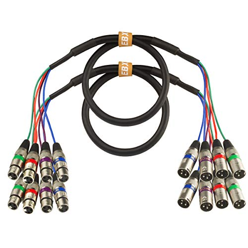 Amp Studios 12 Channel 1//4-Inch TRS Snake Cable-5 Feet Long-Serviceable Ends-Pro Audio Effects Snake for Live Recording Audio Interface 5-Feet and Gigs-Patch Mixer