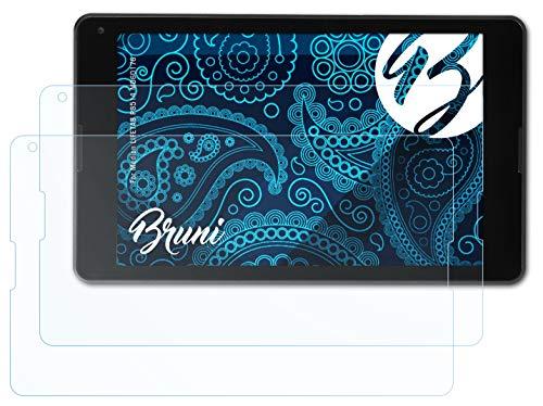 Bruni Schutzfolie kompatibel mit Medion LIFETAB P8514 MD60176 Folie, glasklare Bildschirmschutzfolie (2X)