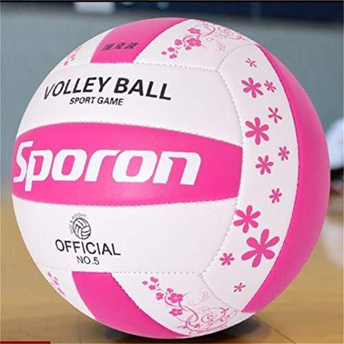 #N/A Soft Touch Volleyball Beachvolleyball Trainingswettbewerb Ball für Indoor Outdoor Beach Gym,Rosa Weiß