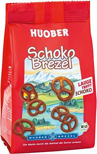 Huober Bio SchokoBrezeln, Brezeln mit Schokoladenüberzug, 100 g
