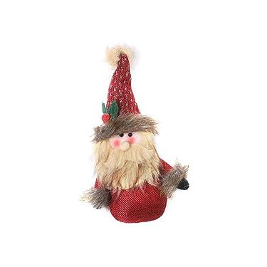 indefinido - Decoración de Navidad Mini Muñeca Colgante de dibujos animados Lindo Viejo Marionetas Decoración Colgante Decoración del Hogar 9.9
