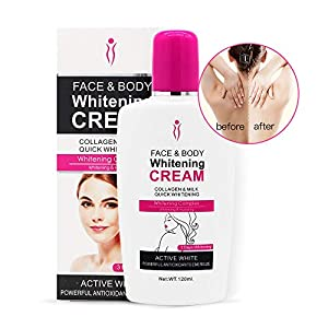 rème pour le corps, Duvina Body Cream Crema hidratante Crema facial para pieles oscuras Loción aclarante para el cuerpo Crema Blanqueadora Crema(120ml)