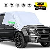 KHH Car Windshield Snow Cover,Universal Fit Windshield Sun Shade for Cars, All-Weather Protection&Double Side Design,Waterproof for Ice, Snow, Frost,Extra Large Size Fits Most Cars and SUV