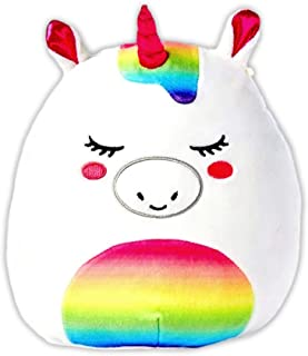 Justice Exclusive Stella the Unicorn Stuffed Animal Squishmallow - Soft and Squishy Unicorn Plush Toy Pillow - Huggable Strawberry Scented Stuffed Animal For Girls