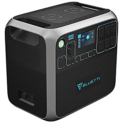 BLUETTI Portable Power Station AC200P 2000W 2000Wh Solar Generator 700W PV Max. Backup Battery Pack with 6 2000W AC Outlet(4800W Surge) for RV Home Emergency Outdoor Camping Explore