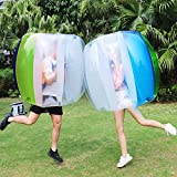 Keenstone Two Bumper Balls Inflatable Bumper Ball 1.2M/4ft 1.5M/5ft Diameter Bubble Soccer Ball Blow Up in 5 Min Inflatable Durable Bumper Bubble Balls for Kids Adults Physical Outdoor Active Play