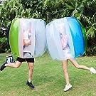 Keenstone Two Bumper Balls Inflatable Bumper Ball 1.2M/4ft 1.5M/5ft Diameter Bubble Soccer Ball Blow Up in 5 Min Inflatable Bumper Bubble Balls for Adults